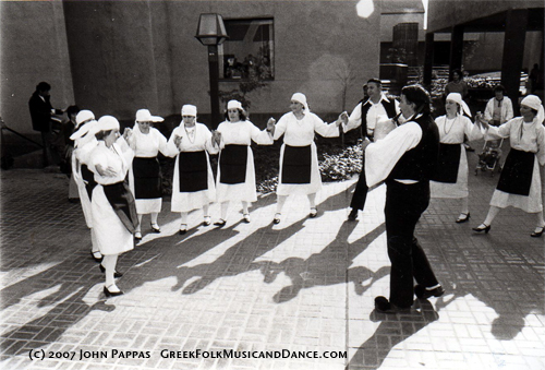 Delta College Hellenic Dancers in 1977