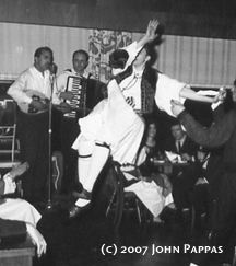 John dances at the El Cid, 1960s