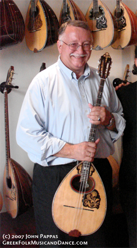 John with his Bouzouki by Spourdalakis